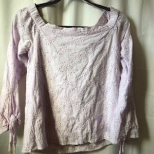 Tops - Lavender Off Shoulder Shirt